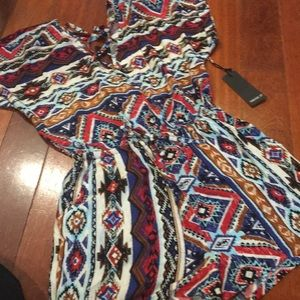 Forever 21 tribal romper , size M, NWT